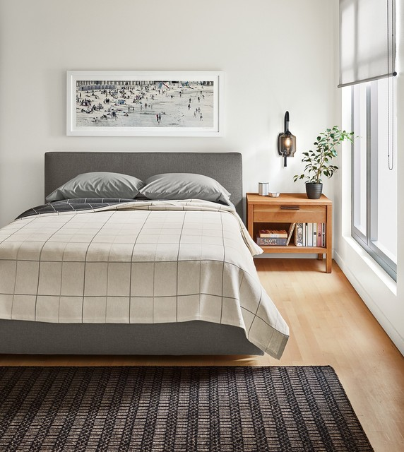 Room And Board Furniture Minneapolis: Wyatt Bed With Mills Nightstand