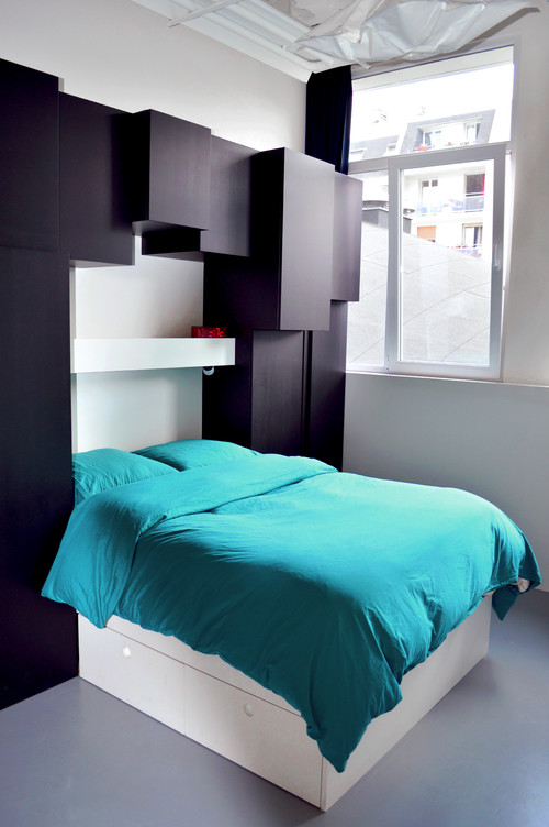 t te de lit 10 id es pour en faire un dressing femme actuelle. Black Bedroom Furniture Sets. Home Design Ideas