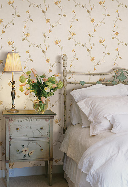 Yellow Wallpaper traditional-bedroom