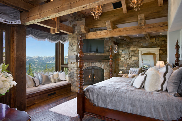Yellowstone Club Summit Residence rustic bedroom. Yellowstone Club Summit Residence   Rustic   Bedroom   Other   by