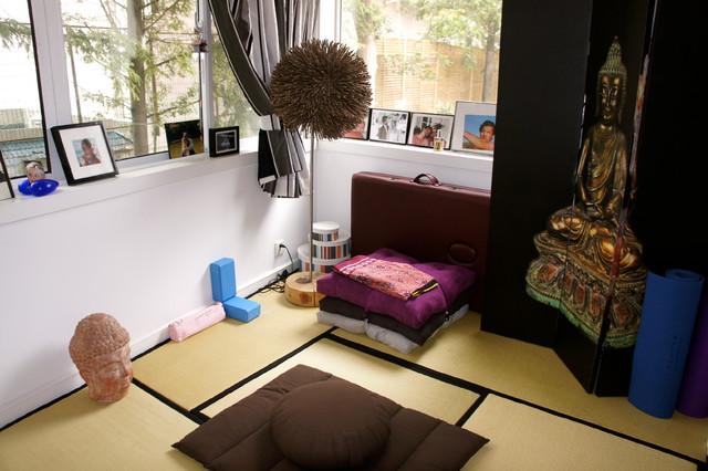 Yoga Meditation Room Asian Bedroom Other Metro By Artdecotek A D T Pro