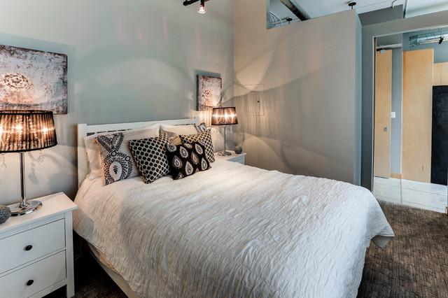 Yonge Eglinton Loft Living Industrial Bedroom Toronto By Hope Designs