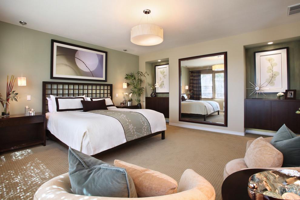 Zen bedroom photo in Orange County
