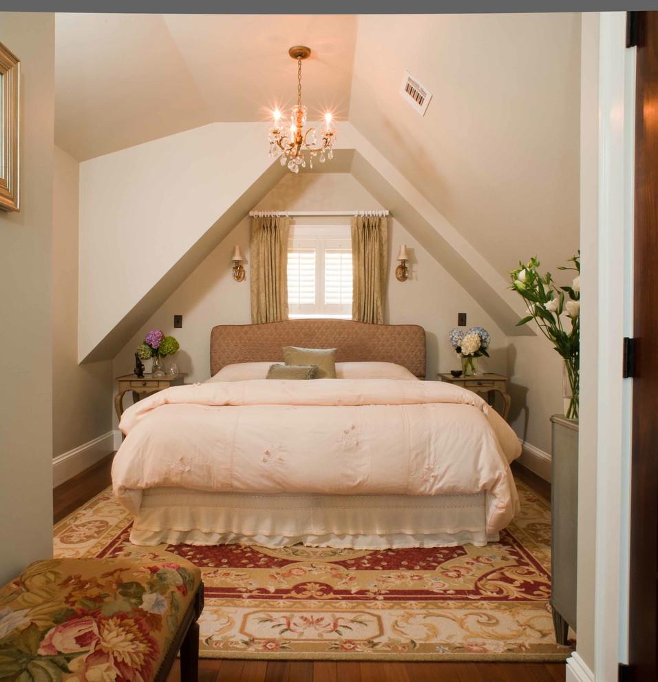 Bedroom - traditional bedroom idea in Boston with beige walls