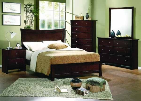 Yuan tai furniture milano 4 piece queen bedroom set ml3580q 4set dr m ch traditional for Bedroom furniture salt lake city