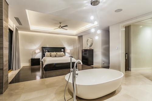 同じ空間で入浴を楽しみながら、ベッドに横になれる?なんて素敵なお部屋なのでしょう♡
