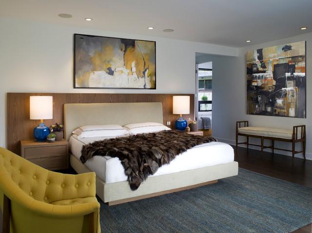 Zen Villa - Retro - Soveværelse - Santa Barbara - af Lori Dennis, Inc.