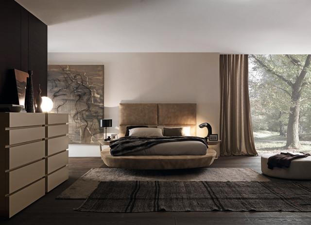Zero round bed by presotto italia modern bedroom