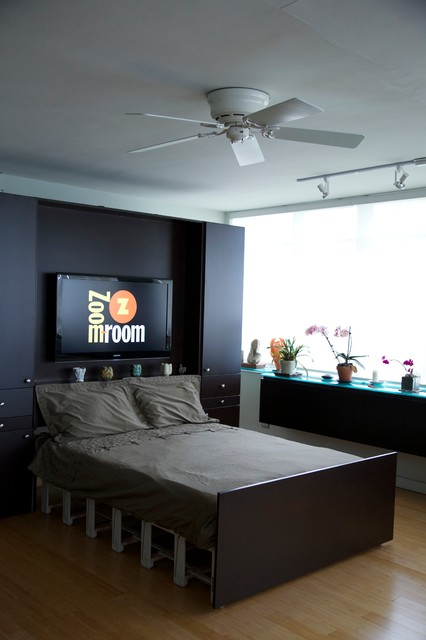 Zoom-Room Remote Controlled Murphy Bed bedroom