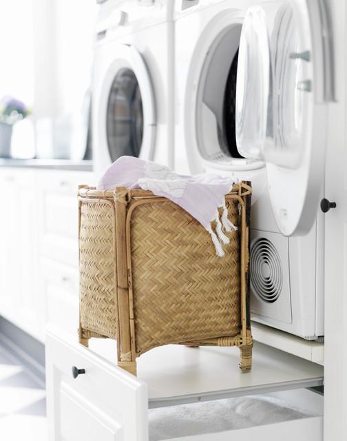 Bryggers i klassisk landstil farmhouse-laundry-room