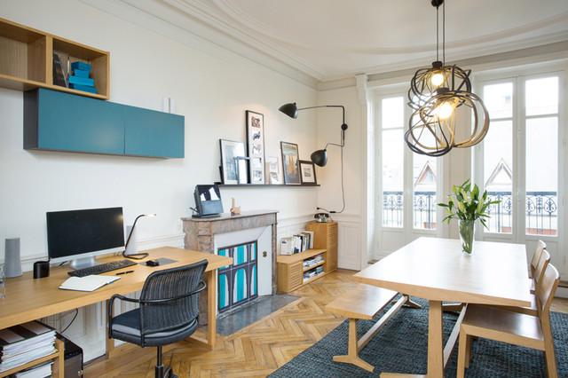 Amenagement d 39 espaces chez thomas et famille contemporain bureau do - Amenagement bureau a domicile ...