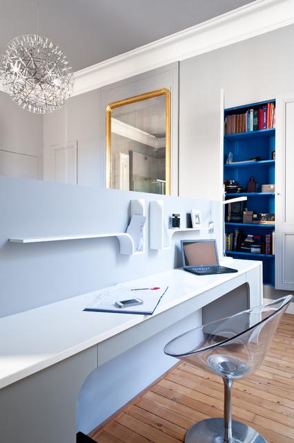 Appartement de type haussmannien - Contemporary - Home Office ...