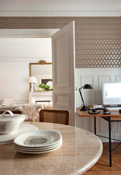 salon de piso en paris estilo años 50 de Emilie Bonaventure