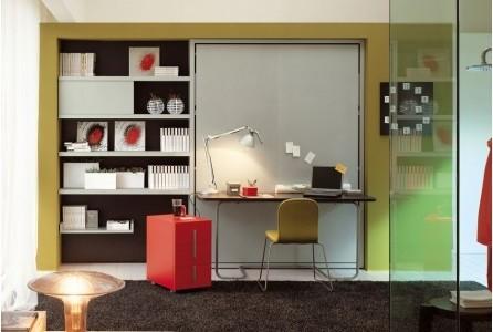 Armoire Lit Ulysse Desk - Moderne - Bureau à domicile - Paris ...