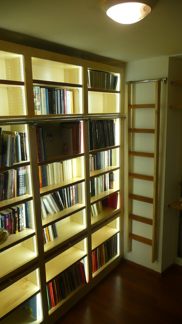 Biblioth que contemporaine clairage led int gr for Bibliotheque bureau integre