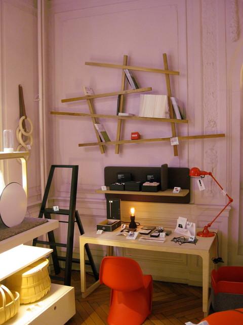 Biblioth que mikado contemporain bureau domicile - Bibliotheque de bureau contemporain ...