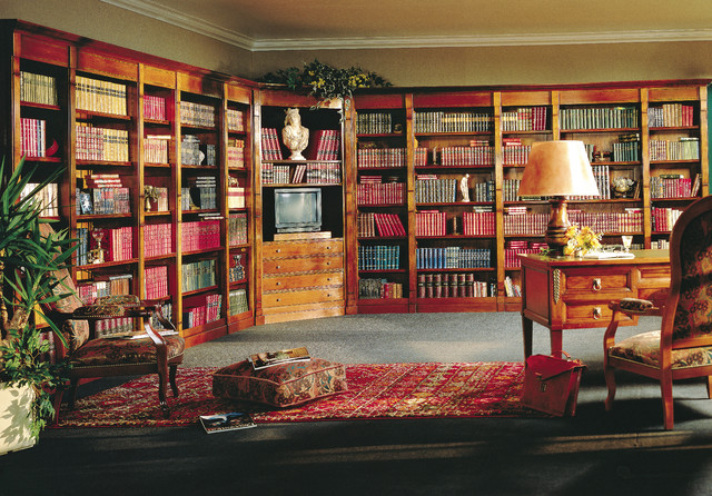 boiserie et lambris biblioth que et bureau classique. Black Bedroom Furniture Sets. Home Design Ideas