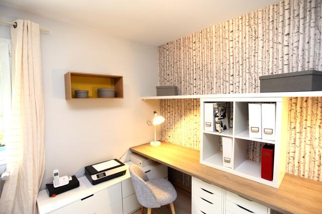 Design Ideas For A Scandinavian Home Office In Paris.