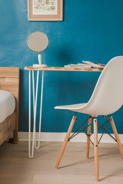 bureau en bois et hairpin legs blancs scandinave bureau domicile montpellier par ripaton. Black Bedroom Furniture Sets. Home Design Ideas