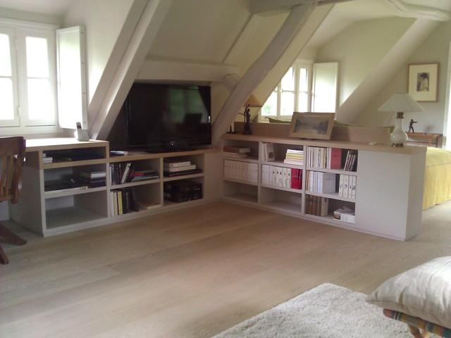 Chambre sous comble - Contemporain - Bureau à domicile - Paris - par ...