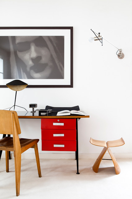 Loft à Montmarte contemporary-home-office-and-library