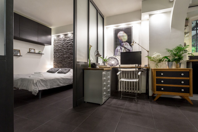 loft design contemporain bureau domicile other metro par franck minieri photographer. Black Bedroom Furniture Sets. Home Design Ideas