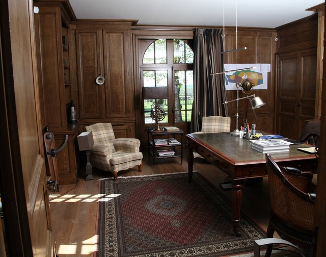 Luxury Art Deco Home Office Transitional And Library