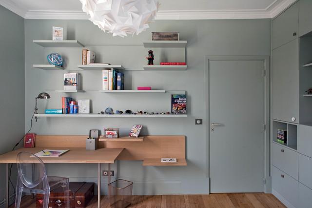 maison c bois colombes contemporain bureau domicile. Black Bedroom Furniture Sets. Home Design Ideas