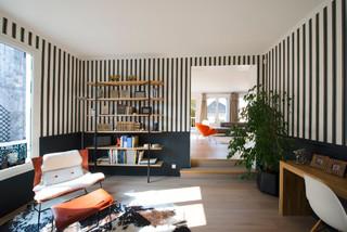 maison individuelle le chesnay contemporain bureau. Black Bedroom Furniture Sets. Home Design Ideas