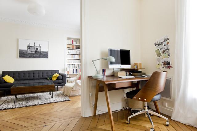 paris 19 r novation compl te contemporain bureau domicile paris par jerome coton. Black Bedroom Furniture Sets. Home Design Ideas