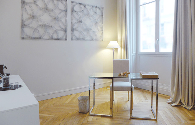 un cabinet de psychoth rapie aux airs de salon chic un espace hors du temps contemporain. Black Bedroom Furniture Sets. Home Design Ideas