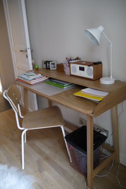 un nid douillet contemporain bureau domicile other metro par laurent cayron. Black Bedroom Furniture Sets. Home Design Ideas