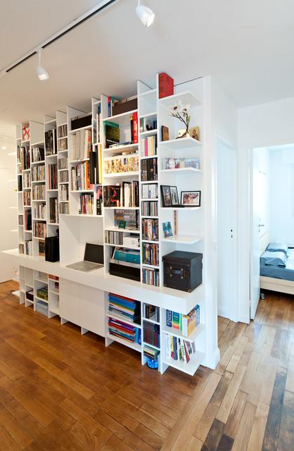Une biblioth que bureau occupe l 39 entr e contemporain - Bibliotheque de bureau contemporain ...