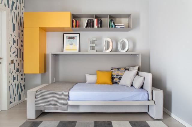 Andrea castrignano decorare con stile contemporaneo camera da letto milano di riccardo - Decorare pareti camera da letto ...