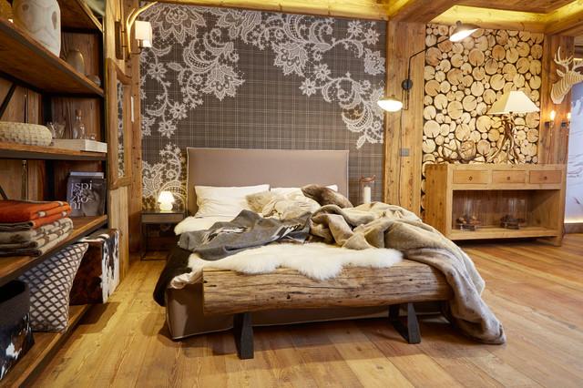 Appartamento in baita in montagna camera da letto - Camere da letto di montagna ...