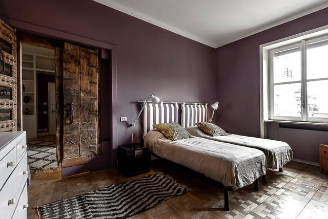 Apt luxury milano eclettico camera da letto milano di antonella bozzini - Camera da letto milano ...