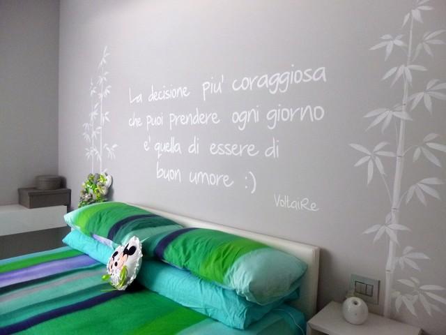 Arredamento Moderno Con Scritte E Disegni Sui Muri Moderno Camera Da Letto Milano Di Carminati Sonzogni Houzz