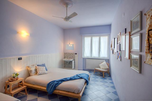 Colori Per Camera Da Letto Rilassanti : Bianco blu azzurro e colore naturale del legno colori rilassanti
