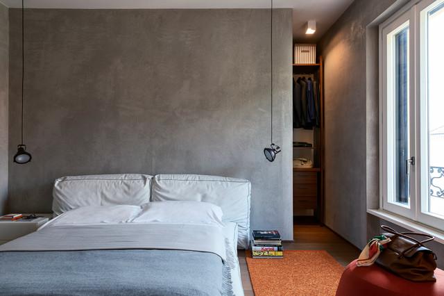 Camera Con Cabina Armadio.Camera Con Parete Cabina Armadio Contemporary Bedroom Milan