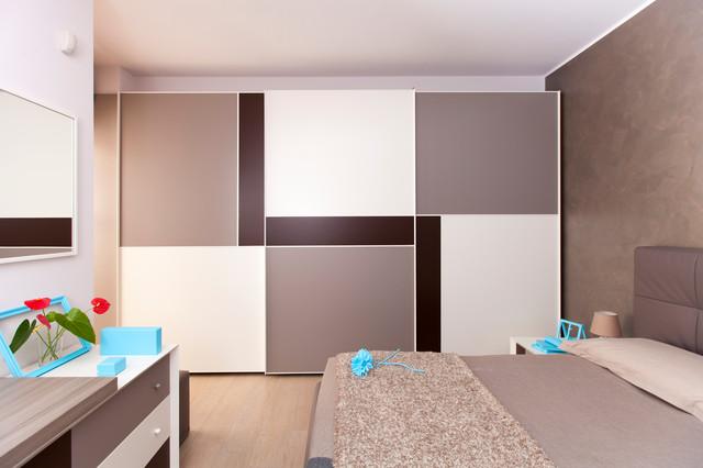 Camera da letto arredata su misura - Contemporaneo - Camera da Letto ...
