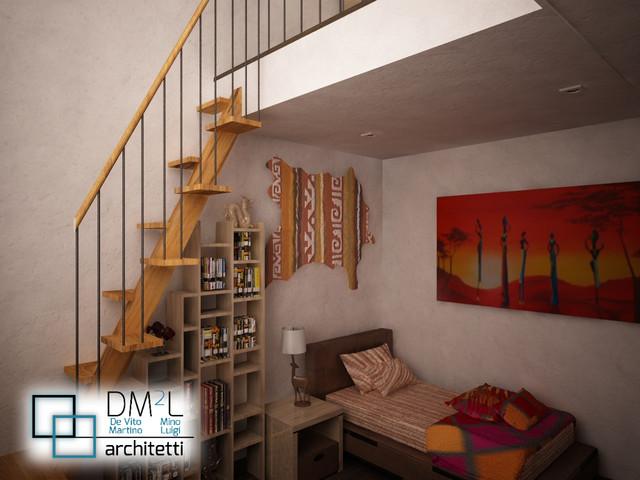 Camera da letto con soppalco in legno for Letto con soppalco