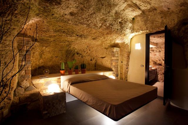 Casa nella grotta - Mediterraneo - Camera da Letto - Catania-Palermo ...