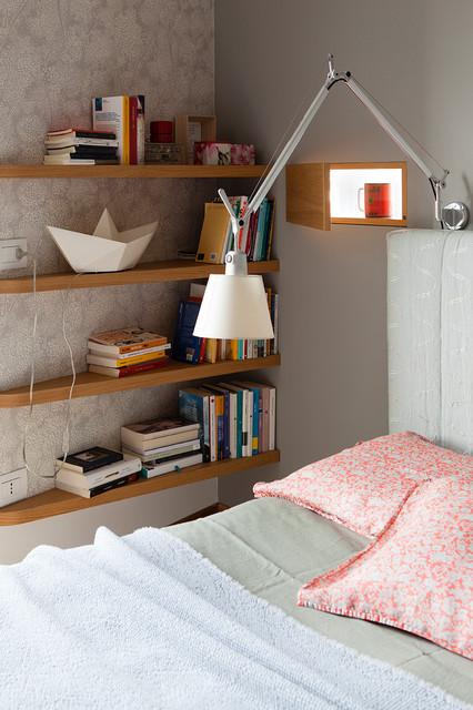 casa via Dezza contemporaneo-dormitorio