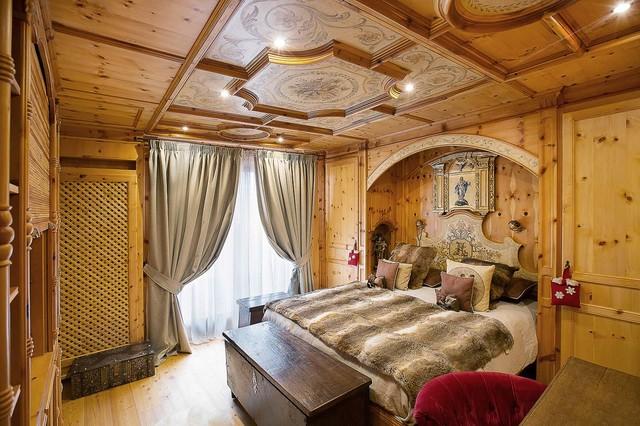 Chalet la madonnina in montagna camera da letto for Arredamento rustico moderno camera da letto