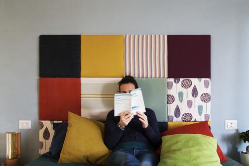 Una testata letto fai da te con tessuti originali 11 idee per ispirarvi - Testiera letto originale ...