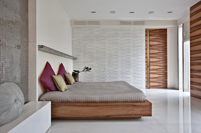 House in bangalore india contemporary bedroom for Wall bed bangalore