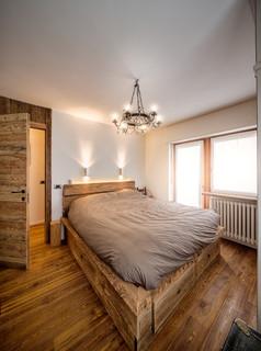 Camera da letto rustica di medie dimensioni - Design, Foto e ...