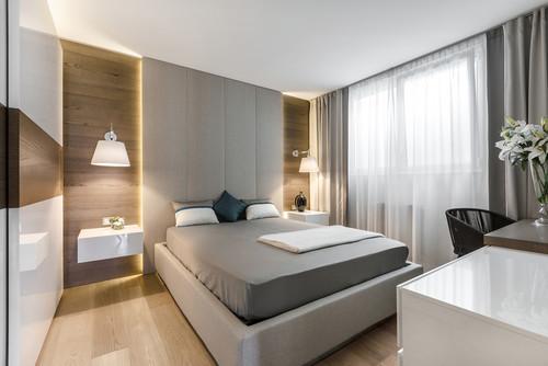 Minimalistic bedroom interior