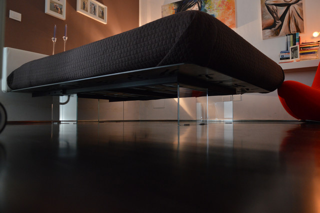 La calda freddezza di un design minimal moderno camera - Camera da letto minimal ...
