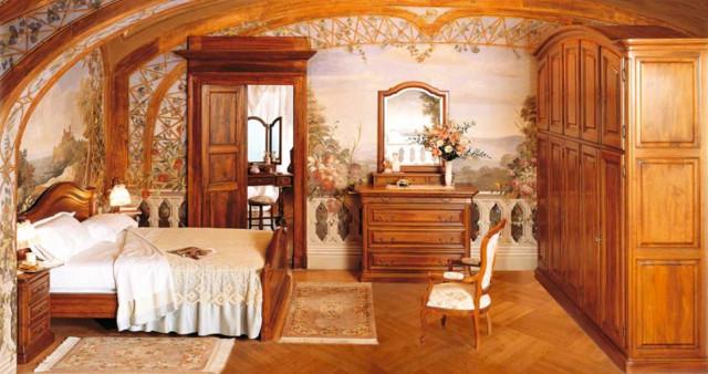Le nostre camere da letto artigianali in legno - Country - Camera da ...